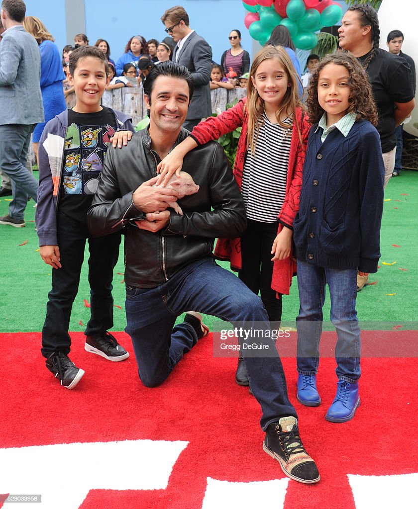 Actor Gilles Marini arrives at the premiere of Sony Pictures' 'The Angry Birds Movie' at Regency Village Theatre on May 7, 2016 in Westwood, California.