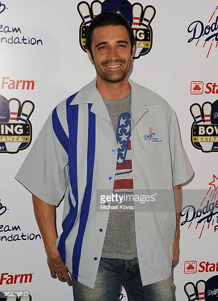 Actor Gilles Marini attends the 6th Annual State Farm Dodgers Dream Foundation Bowling Extravaganza at Lucky Strike Lanes at LA Live on May 3 2010 in...