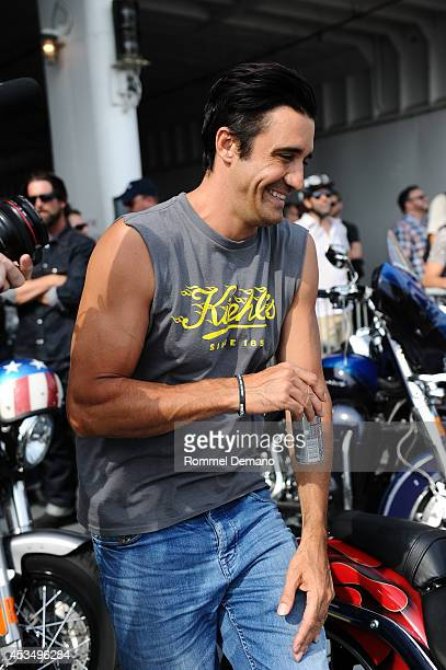 Actor GIlles Marini attends the The AIDS Memorial Quilt returns to NYC as part of the 5th annual Kiehl's LifeRide for amfAR at Governors Island on...