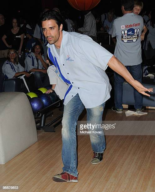 Actor Gilles Marini bowls at the 6th Annual State Farm Dodgers Dream Foundation Bowling Extravaganza at Lucky Strike Lanes at LA Live on May 3 2010...
