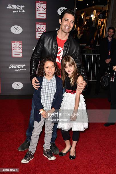 Actor Gilles Marini Georges Marini and Juliana Marini attend the premiere of Disney's Big Hero 6 at the El Capitan Theatre on November 4 2014 in...