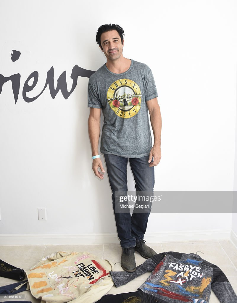 Actor Gilles Marini poses for portait at Paradise House Presented By Interview on April 16, 2016 in Palm Springs, California.