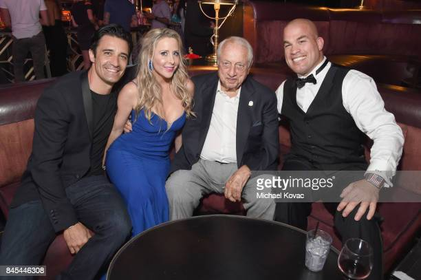 Actor Gilles Marini, Traci Szymanski, baseball Hall of Famer Tommy Lasorda and MMA fighter Tito Ortiz at the Heroes for Heroes: Los Angeles Police...