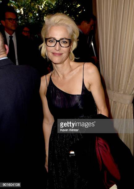 Actor Gillian Anderson attends the 18th Annual AFI Awards at Four Seasons Hotel Los Angeles at Beverly Hills on January 5, 2018 in Los Angeles,...