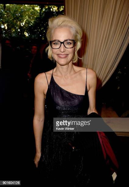 Actor Gillian Anderson attends the 18th Annual AFI Awards at Four Seasons Hotel Los Angeles at Beverly Hills on January 5 2018 in Los Angeles...