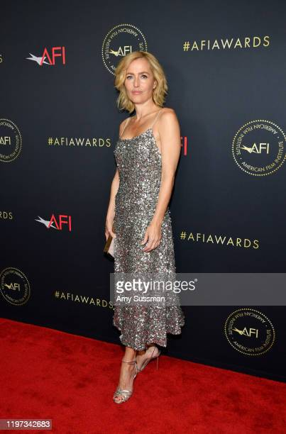 Actor Gillian Anderson attends the 20th Annual AFI Awards at Four Seasons Hotel Los Angeles at Beverly Hills on January 03, 2020 in Los Angeles,...