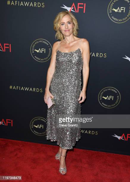 Actor Gillian Anderson attends the 20th Annual AFI Awards at Four Seasons Hotel Los Angeles at Beverly Hills on January 03 2020 in Los Angeles...