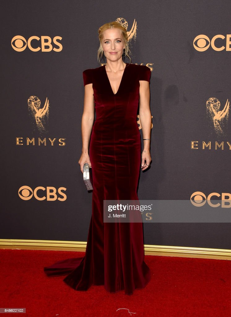 Actor Gillian Anderson attends the 69th Annual Primetime Emmy Awards at Microsoft Theater on September 17, 2017 in Los Angeles, California.