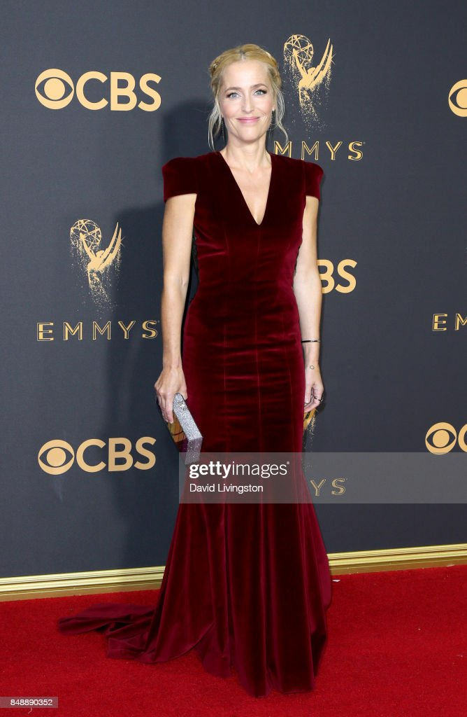 Actor Gillian Anderson attends the 69th Annual Primetime Emmy Awards - Arrivals at Microsoft Theater on September 17, 2017 in Los Angeles, California.