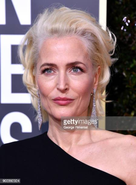 Actor Gillian Anderson attends The 75th Annual Golden Globe Awards at The Beverly Hilton Hotel on January 7 2018 in Beverly Hills California