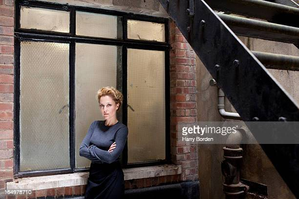 Actor Gillian Anderson is photographed for Sunday Times magazine on July 10 2012 in London England