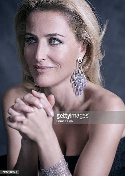 Actor Gillian Anderson is photographed on April 12 2015 in London England