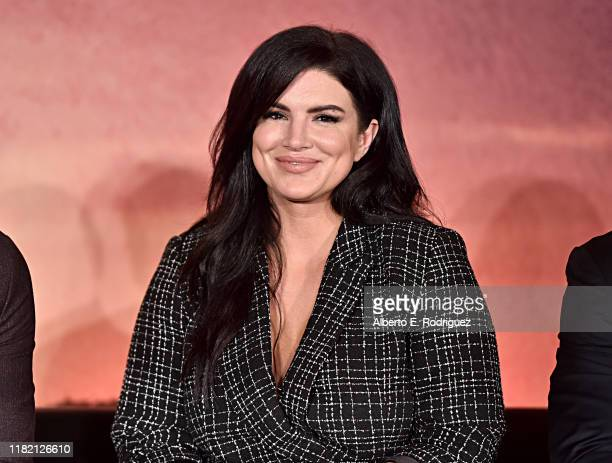 Actor Gina Carano of Lucasfilm's The Mandalorian at the Disney Global Press Day on October 19 2019 in Los Angeles California The Mandalorian series...