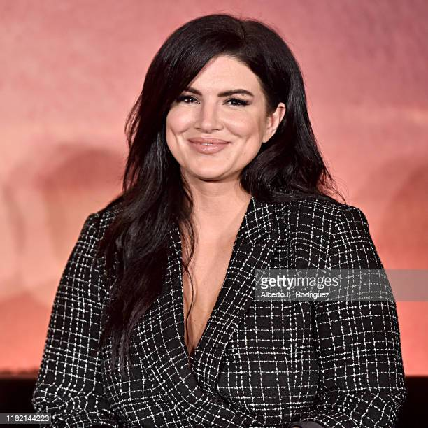 """Actor Gina Carano of Lucasfilm's """"The Mandalorian"""" at the Disney+ Global Press Day on October 19, 2019 in Los Angeles, California. """"The Mandalorian""""..."""