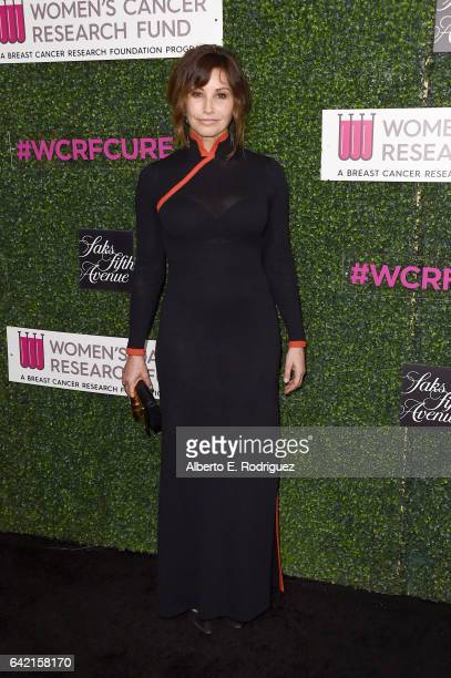 Actor Gina Gershon attends WCRF's An Unforgettable Evening presented by Saks Fifth Avenue at the Beverly Wilshire Four Seasons Hotel on February 16...
