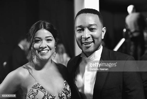 Actor Gina Rodriguez and John Legend attend The 23rd Annual Screen Actors Guild Awards at The Shrine Auditorium on January 29 2017 in Los Angeles...