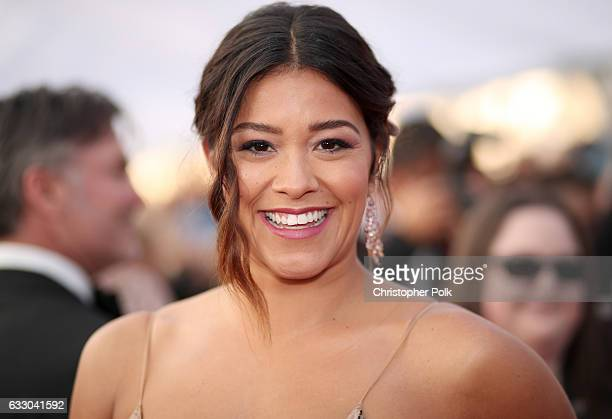Actor Gina Rodriguez attends The 23rd Annual Screen Actors Guild Awards at The Shrine Auditorium on January 29 2017 in Los Angeles California...