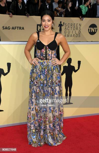 Actor Gina Rodriguez attends the 24th Annual Screen ActorsGuild Awards at The Shrine Auditorium on January 21 2018 in Los Angeles California