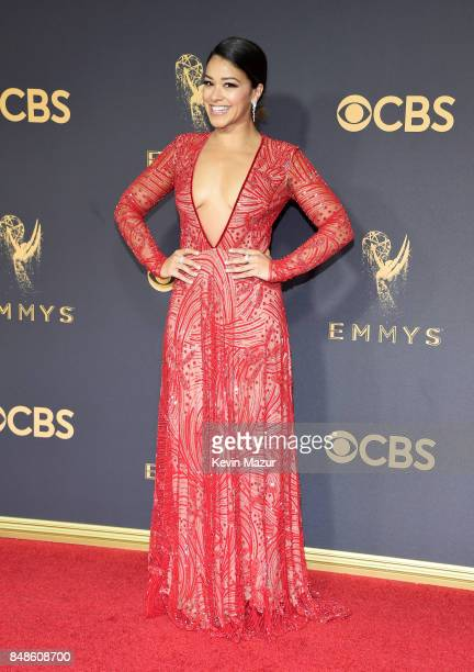 Actor Gina Rodriguez attends the 69th Annual Primetime Emmy Awards at Microsoft Theater on September 17 2017 in Los Angeles California