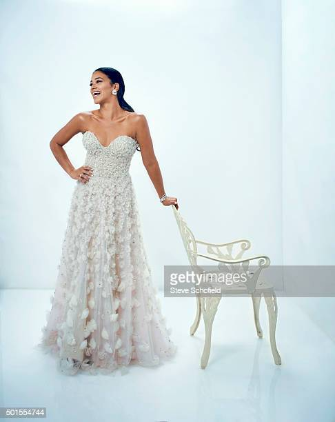 Actor Gina Rodriguez is photographed for Emmy magazine on September 20 2015 in Los Angeles California