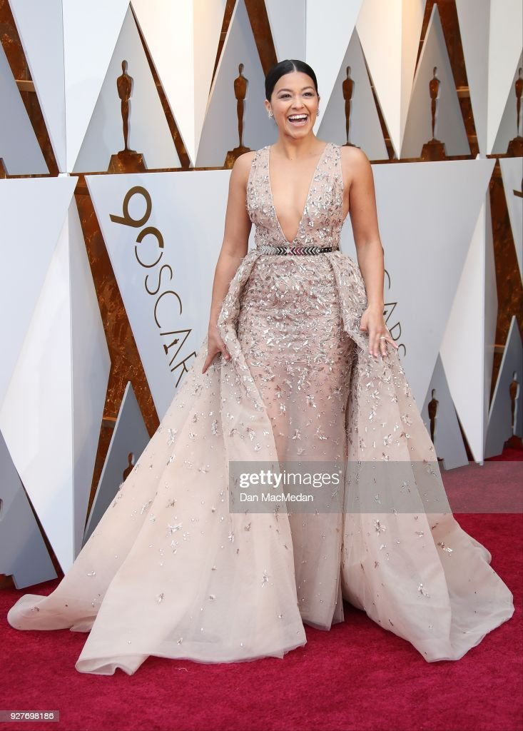 Actor Gina Rodriquez attends the 90th Annual Academy Awards at Hollywood & Highland Center on March 4, 2018 in Hollywood, California.