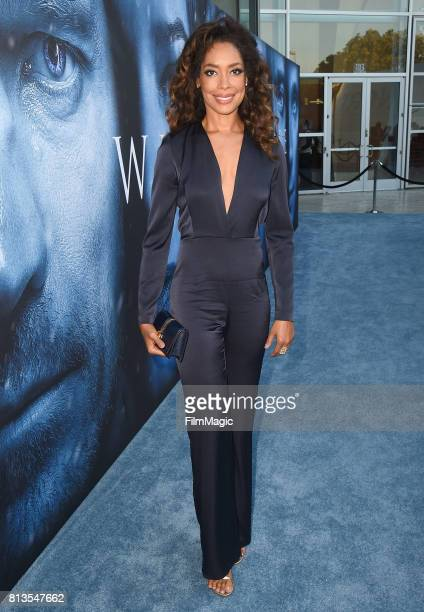 Actor Gina Torres at the Los Angeles Premiere for the seventh season of HBO's Game Of Thrones at Walt Disney Concert Hall on July 12 2017 in Los...