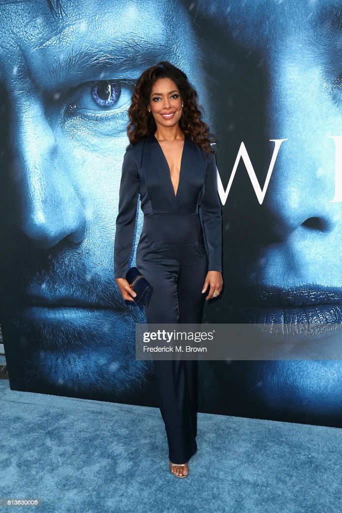 Actor Gina Torres attends the premiere of HBO's 'Game Of Thrones' season 7 at Walt Disney Concert Hall on July 12, 2017 in Los Angeles, California.