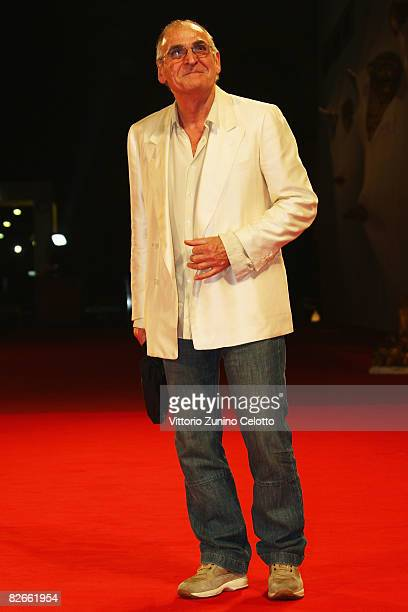 Actor Gino Santercole attends the Yuppi Du premiere at the Sala Grande during the 65th Venice Film Festival on September 4 2008 in Venice Italy