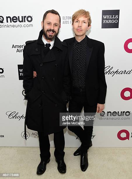 Actor Giovanni Ribisi and Musician Beck attend the 23rd Annual Elton John AIDS Foundation Academy Awards Viewing Party on February 22 2015 in Los...