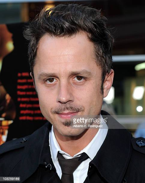Actor Giovanni Ribisi arrives to the premiere of Paramount Pictures' Middle Men at the ArcLight Theaters on August 5 2010 in Los Angeles California