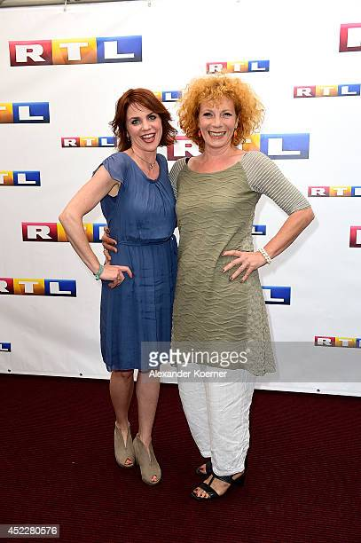 Actor Gisa Zach and Nina Hoger attend the offical Television programmpreview of german television production RTL on July 17 2014 in Hamburg Germany...