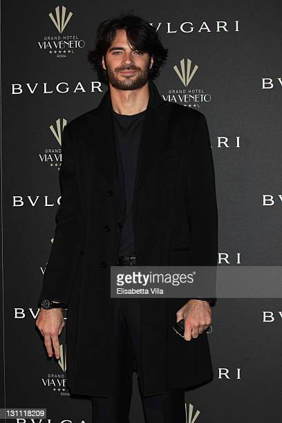 Actor Giulio Berruti attend a celebration of The International Rome Film Festival hosted by Bulgari and The Grand Hotel Via Veneto on November 1 2011...