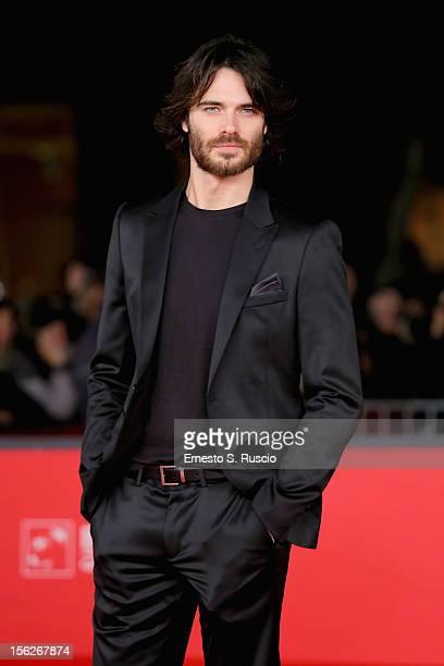 Actor Giulio Berruti attends the 'Goltzius And The Pelican Company' Premiere during the 7th Rome Film Festival at the Auditorium Parco Della Musica...