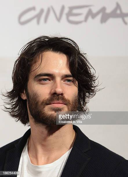 Actor Giulio Berrutiattends the Goltzius and the Pelican Company Photocall during the 7th Rome Film Festival at Auditorium Parco Della Musica on...