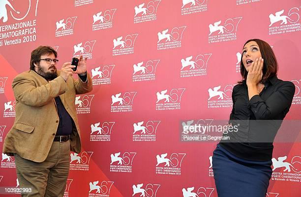 Actor Giuseppe Battiston and actress Ambra Angiolini attend the 'Notizie Degli Scavi' photocall during 67th Venice Film Festival at the Palazzo del...
