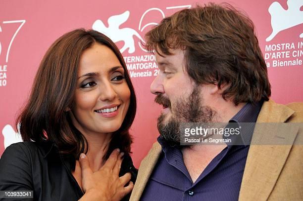Actor Giuseppe Battiston and actress Ambra Angiolini attends the 'Notizie Degli Scavi' photocall during 67th Venice Film Festival at the Palazzo del...