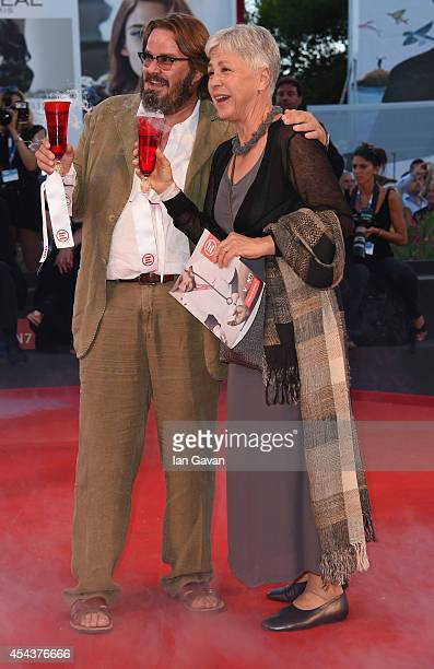 Actor Giuseppe Battiston and Ottavia Piccolo attend the 'La Rancon de la gloire' Premiere during the 71st Venice Film Festival at the Palazzo del...
