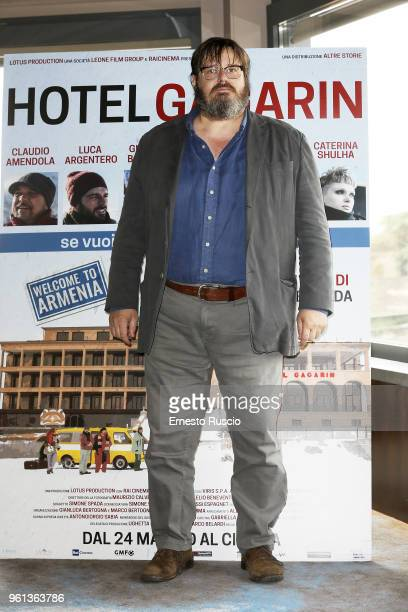 Actor Giuseppe Battiston attends a photocall for 'Hotel Gagarin' at Hotel Eden on May 22 2018 in Rome Italy