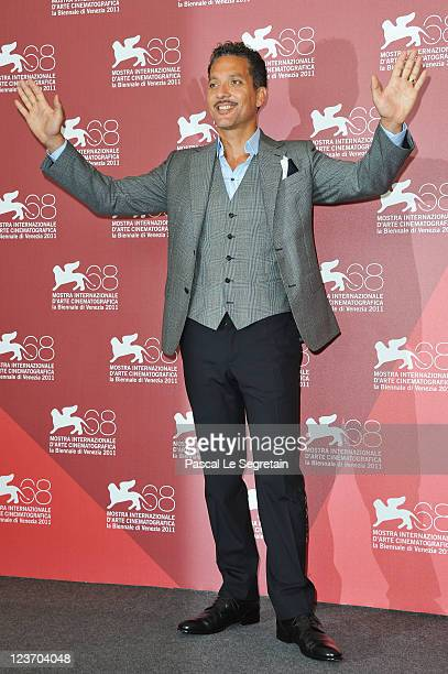 Actor Giuseppe Fiorello poses at the Terraferma photocall during the 68th Venice Film Festival at Palazzo del Cinema on September 4 2011 in Venice...