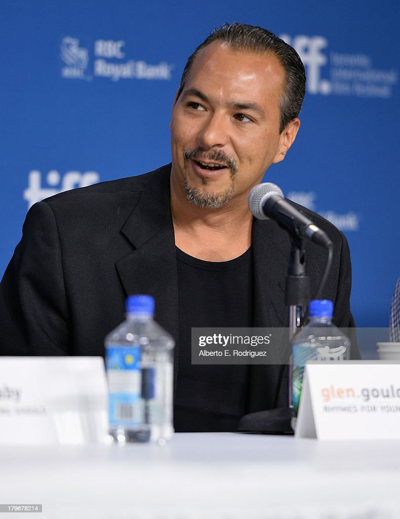 Actor Glen Gould of 'Rhymes for Young Ghouls' speaks onstage at First Peoples Cinema Press Conference during the 2013 Toronto International Film Festival at TIFF Bell Lightbox on September 6, 2013 in Toronto, Canada.