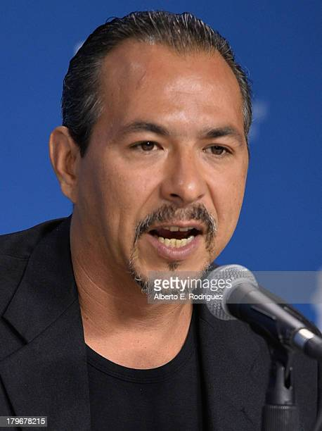 Actor Glen Gould of 'Rhymes for Young Ghouls' speaks onstage at First Peoples Cinema Press Conference during the 2013 Toronto International Film...