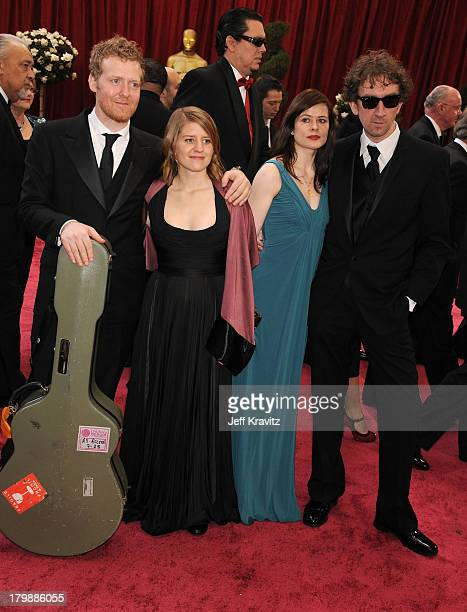 Actor Glen Hansard Marketa Irglova Director John Carney and guest attend the 80th Annual Academy Awards at the Kodak Theatre on February 24 2008 in...