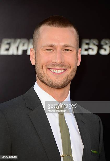 Actor Glen Powell attends Lionsgate Films' 'The Expendables 3' premiere at TCL Chinese Theatre on August 11 2014 in Hollywood California