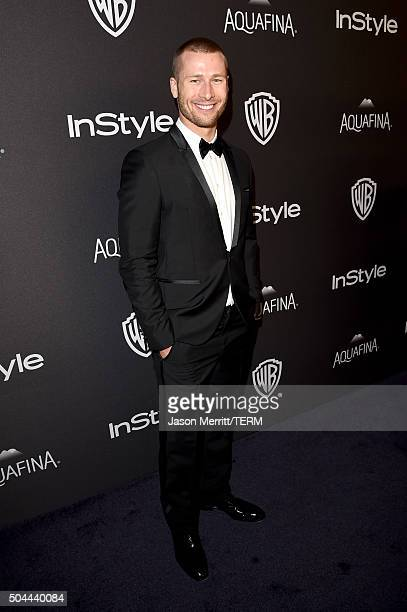 Actor Glen Powell attends The 2016 InStyle And Warner Bros 73rd Annual Golden Globe Awards PostParty at The Beverly Hilton Hotel on January 10 2016...