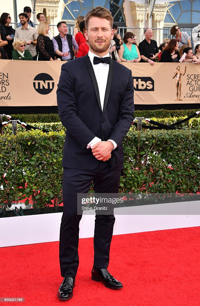 Actor Glen Powell attends the 23rd Annual Screen Actors Guild Awards at The Shrine Expo Hall on January 29, 2017 in Los Angeles, California.