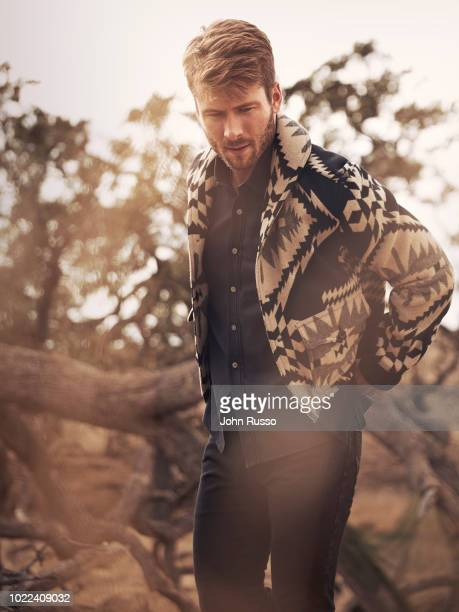 Actor Glen Powell is photographed for GIO Journal on October 31, 2017 in Santa Barbara, California.