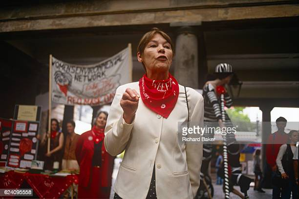 Actor Glenda jackson adresses a Womens' Environmental Network rally in Covent Garden in the lateeighties London England Jackson went on to serve as...