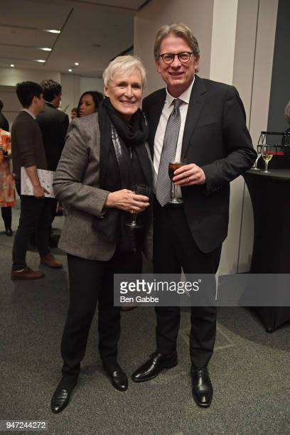 Actor Glenn Close and Academy Museum Director Kerry Brougher attend the Academy Museum Conversation at The Times Center featuring Whoopi Goldberg...