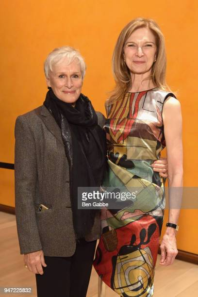 Actor Glenn Close and CEO of the Academy of Motion Picture Arts and Sciences Dawn Hudson attends the Academy Museum Conversation at The Times Center...