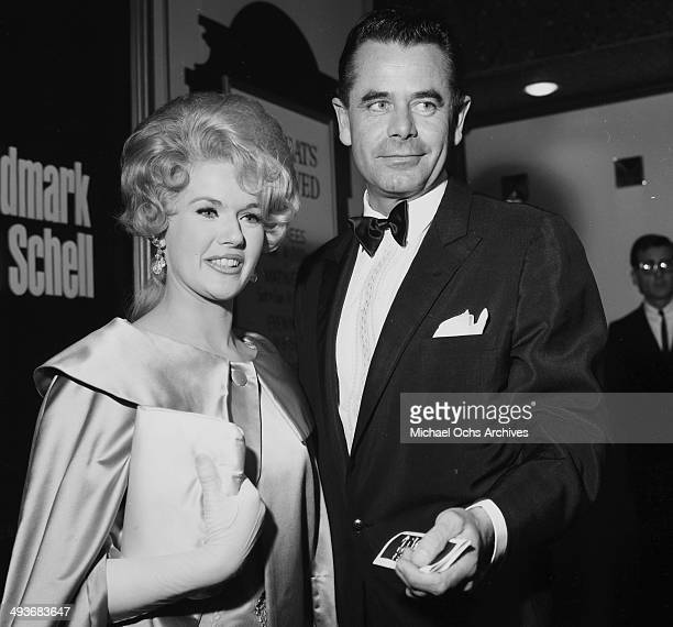 Actor Glenn Ford and actress Connie Stevens attend at party in Los Angeles California
